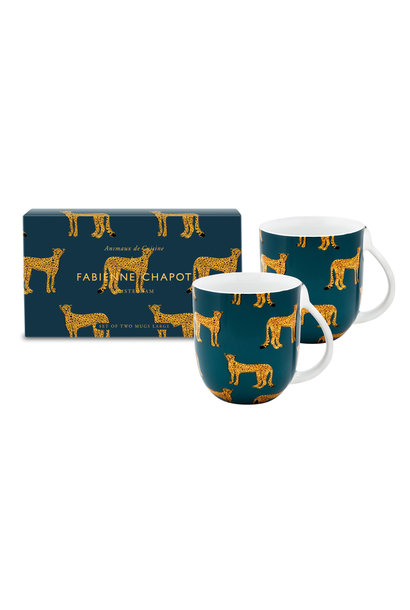 Set/2 Mugs Large Cheetah
