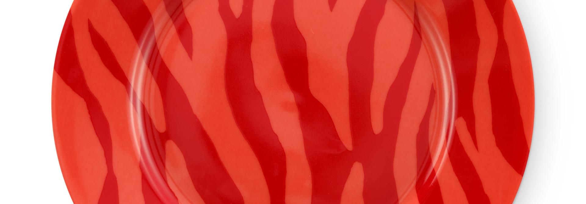 Cake plate Zebra stripes