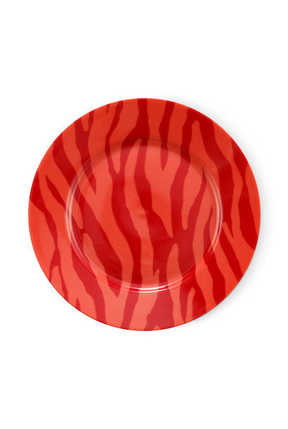 Cake plate Zebra stripes