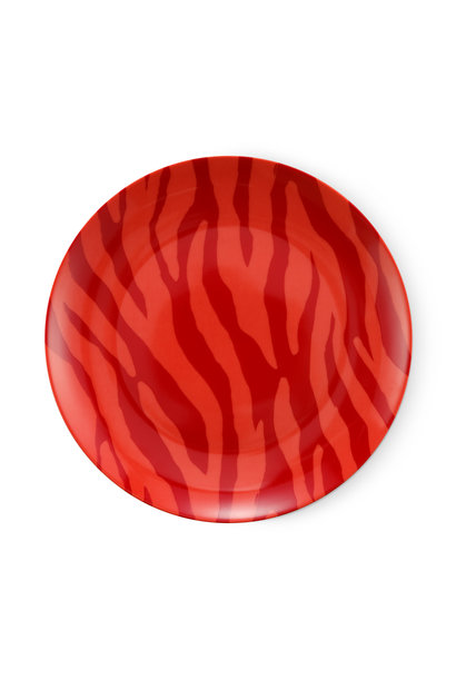 Breakfast plate Zebra stripes