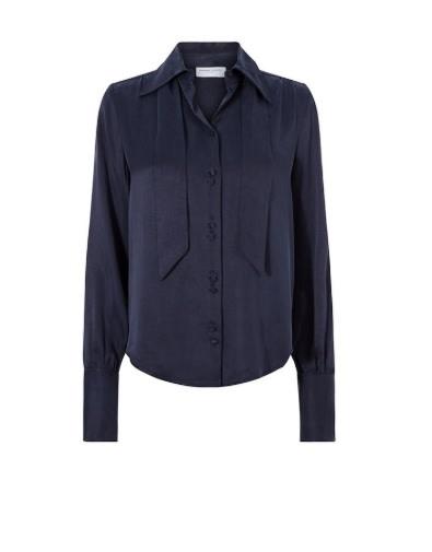 Paris solid blouse blue-1
