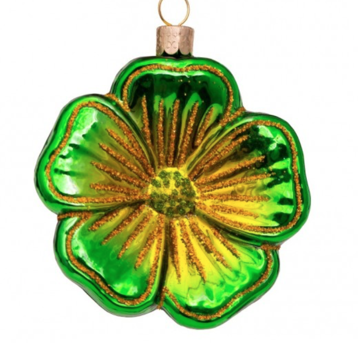 Kersthanger green flower-1