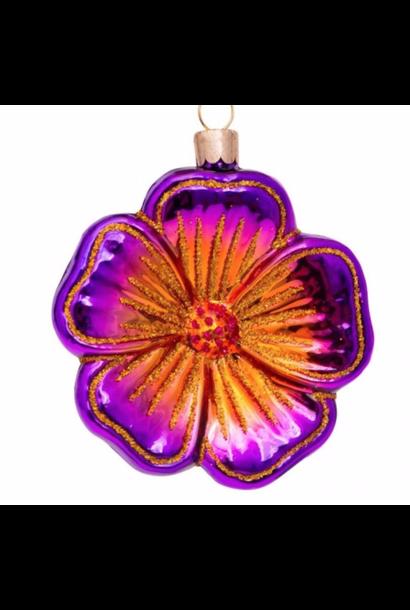 Kersthanger  purple flower