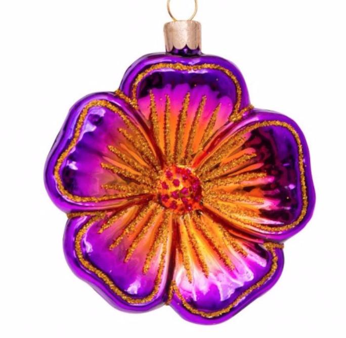 Kersthanger  purple flower-1