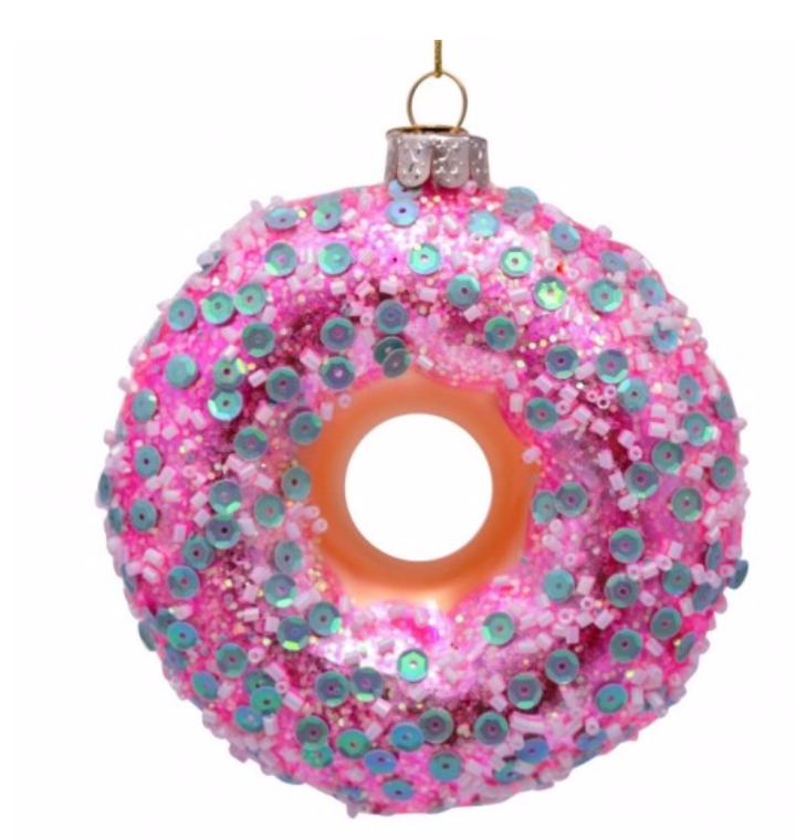 Kersthanger  pink donut white mint-1