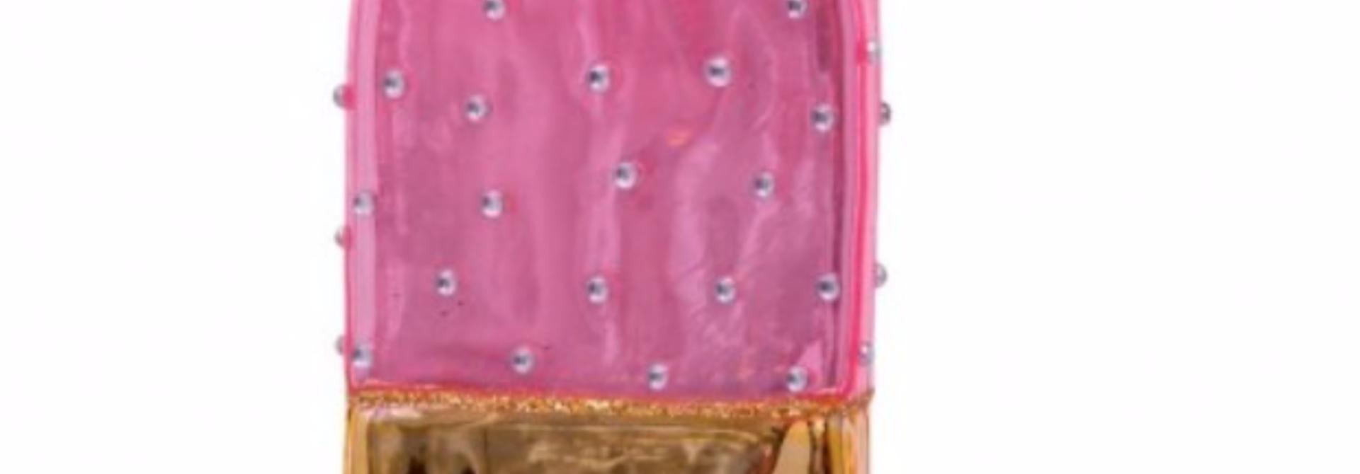 Kersthanger gold/pink icecream