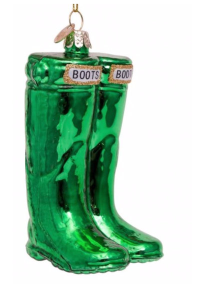 Kersthanger green boots