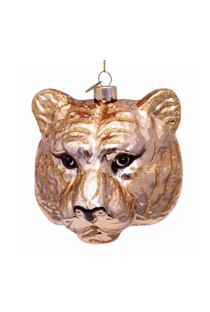 Kersthanger gold tiger head