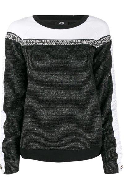 Sweater nero/bianco