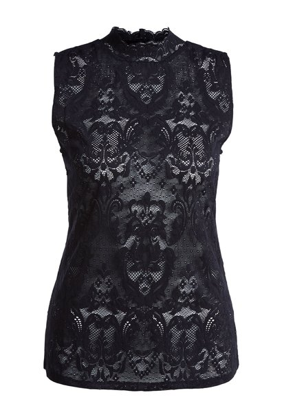 Top black embroidery