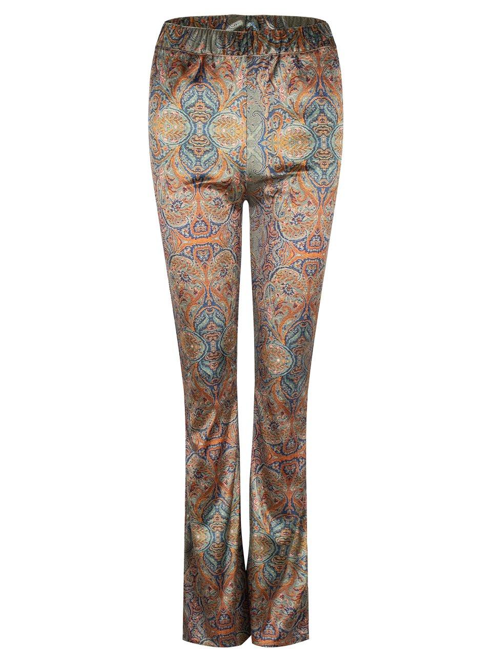 Rona paisley jersey pants-1
