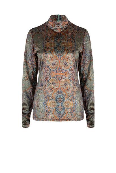 Dolfina paisley jersey top