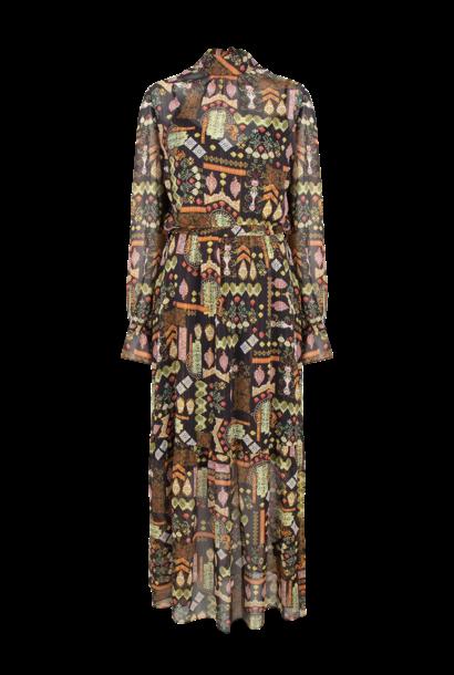 Valkyrie folky print dress