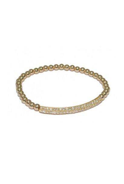 Bracelet gold bar strass