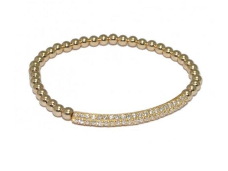 Ps Call Me Bracelet gold bar strass