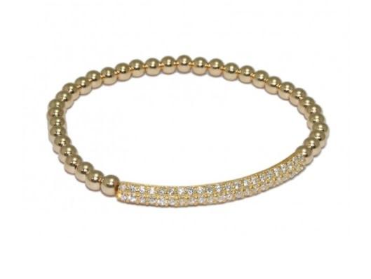 Bracelet gold bar strass-1