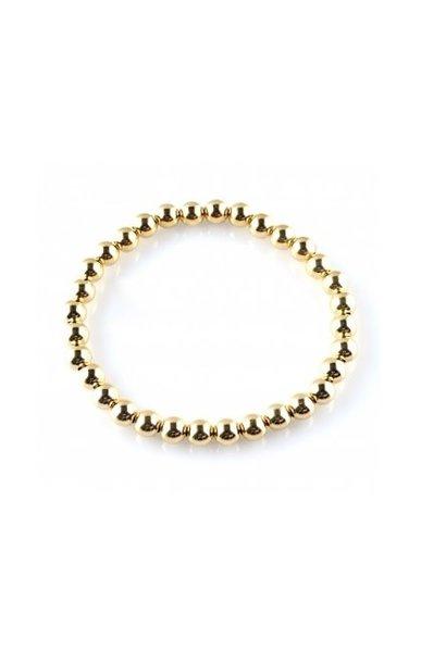 Bracelet basic gold 6mm
