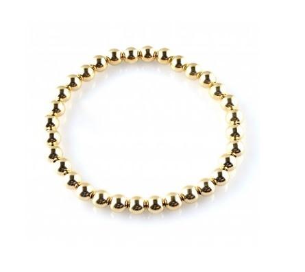 Bracelet basic gold 6mm-1