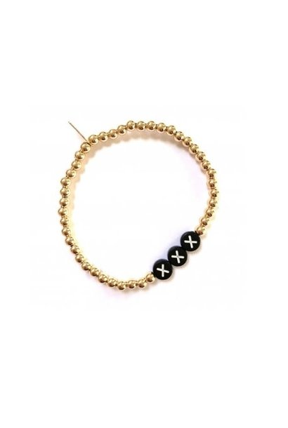 Bracelet gold black initials