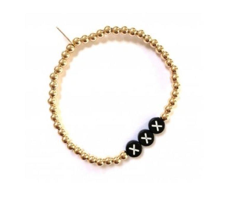 Ps Call Me Bracelet gold black initials
