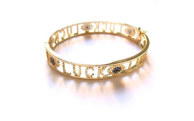 Ps Call Me Bracelet bangle luck gold