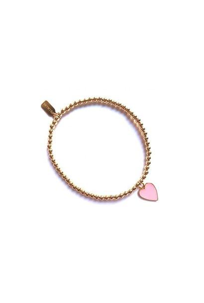 Bracelet gold heart pink