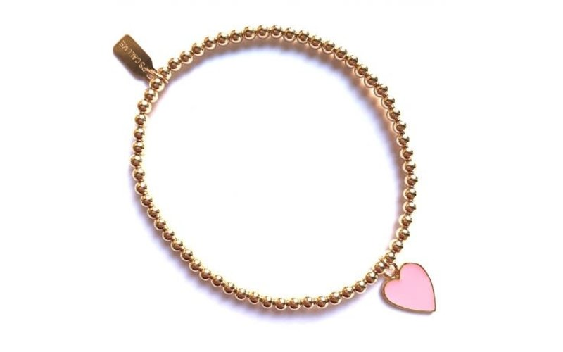 Ps Call Me Bracelet gold heart pink