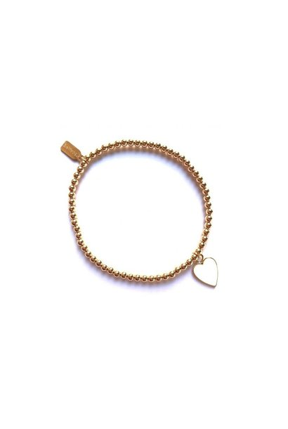 Bracelet gold heart white