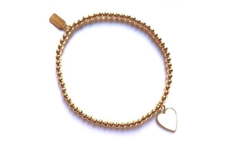 Ps Call Me Bracelet gold heart white