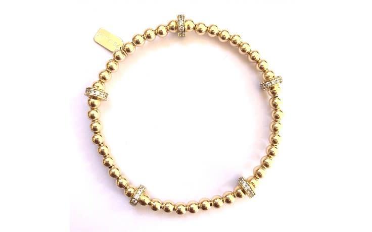 Bracelet gold rondel strass 5-2