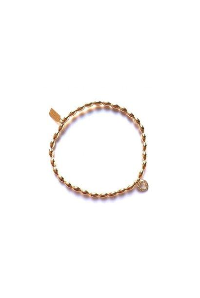 Bracelet gold oval heart