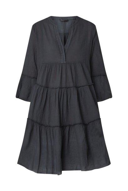 Ella midi dress black