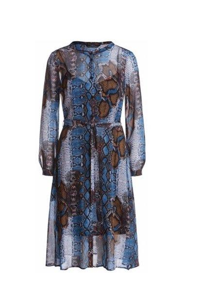 Dress snake blue camel