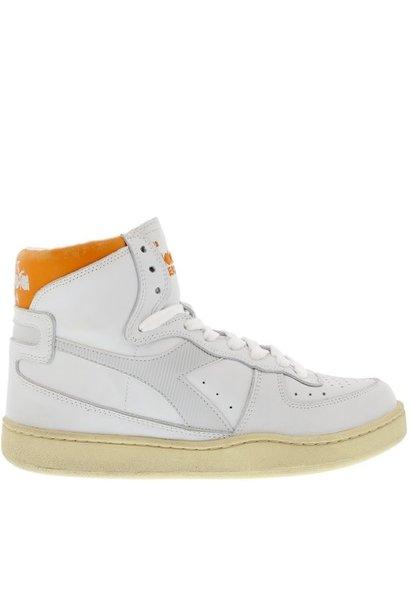 Sneaker basket white/orange