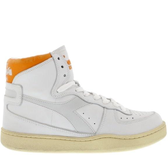 Sneaker basket white/orange-1