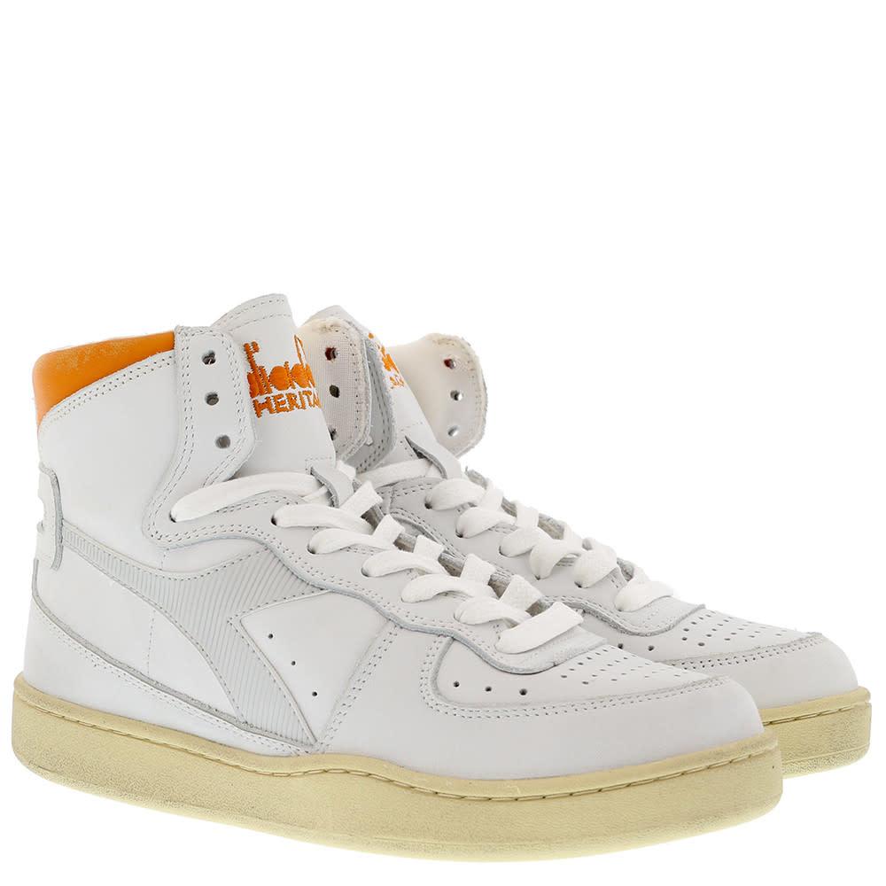 Sneaker basket white/orange-2