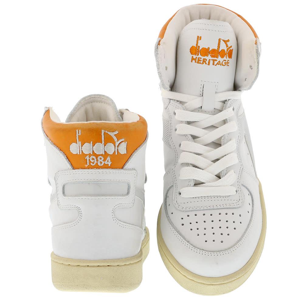 Sneaker basket white/orange-3