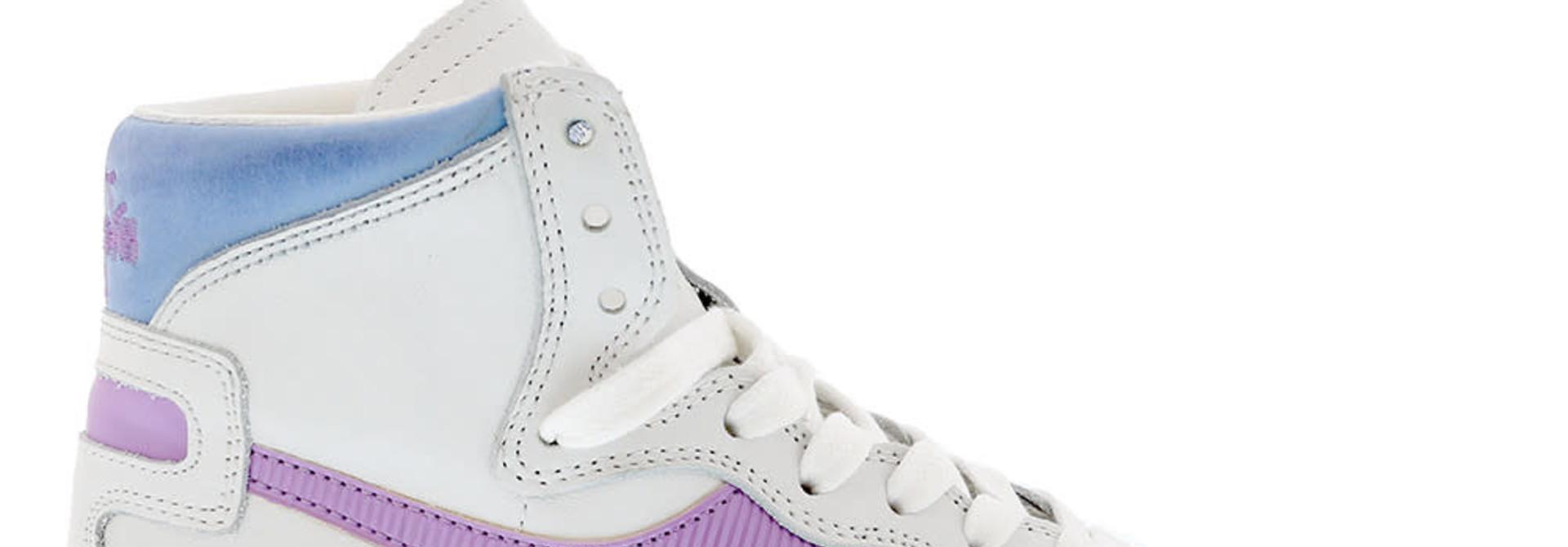 Sneaker basket white/viola winter sky