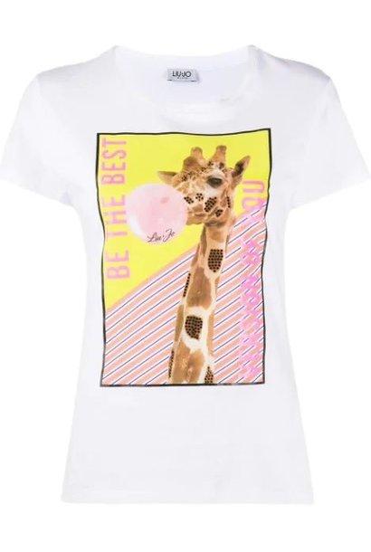 Tee bianco ottico giraf