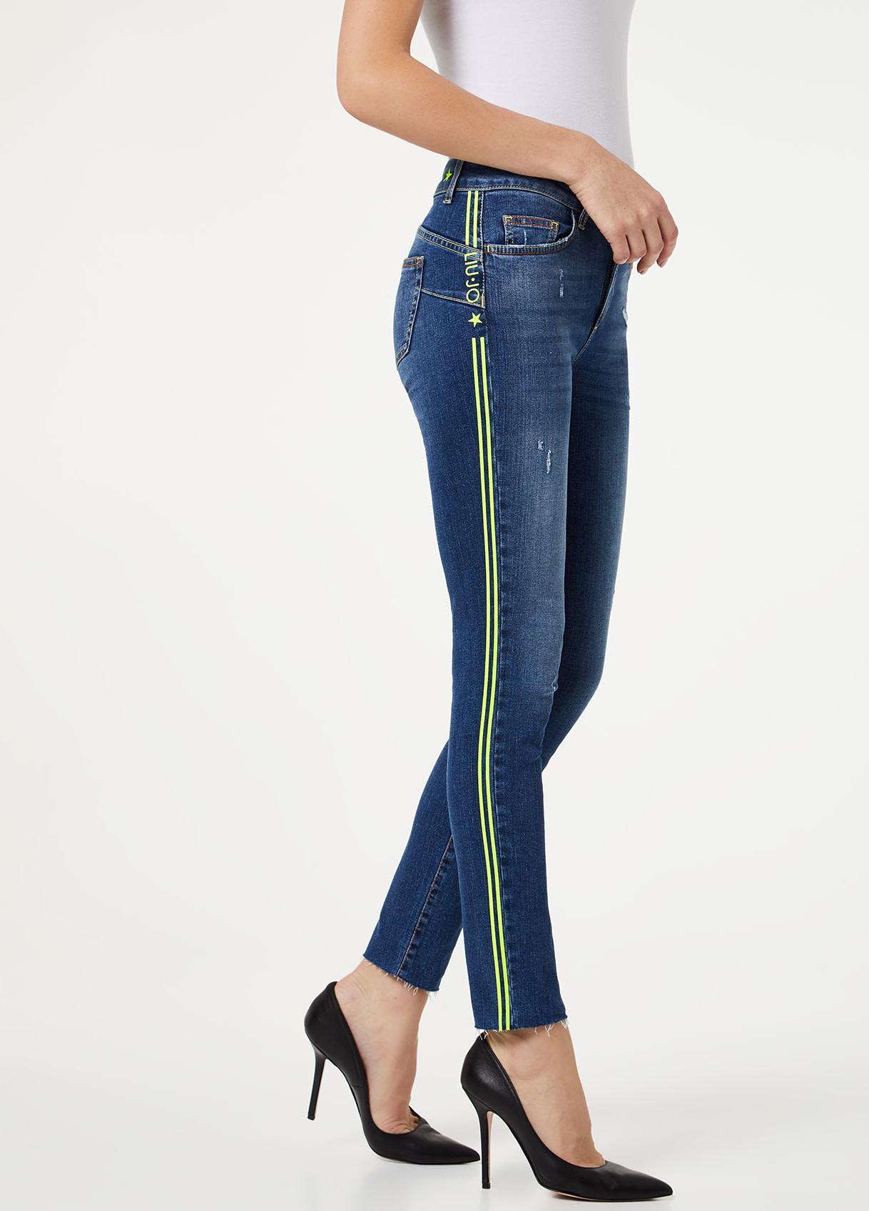 B.up Ideal jeans met neon-3