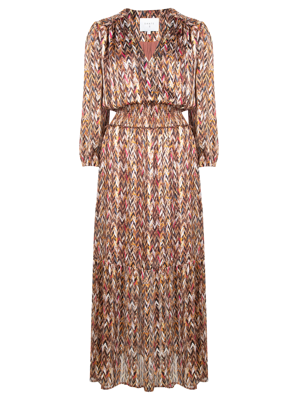 Bardon printed chevron dress-1