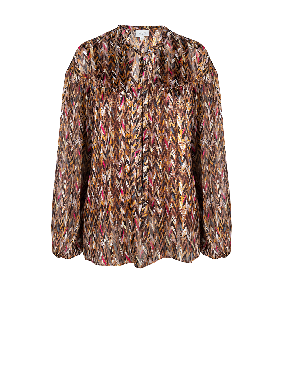 June printed chevron blouse-1