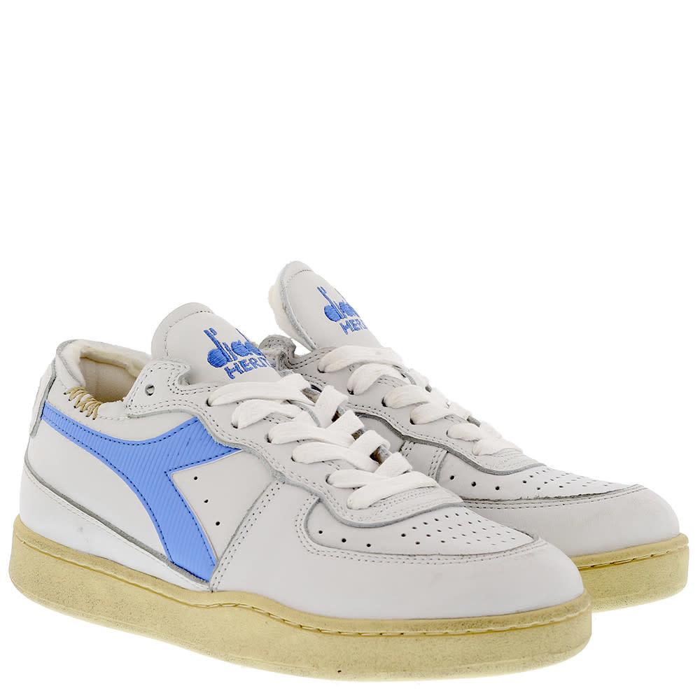 Sneaker basket row cut wit-blauw-2