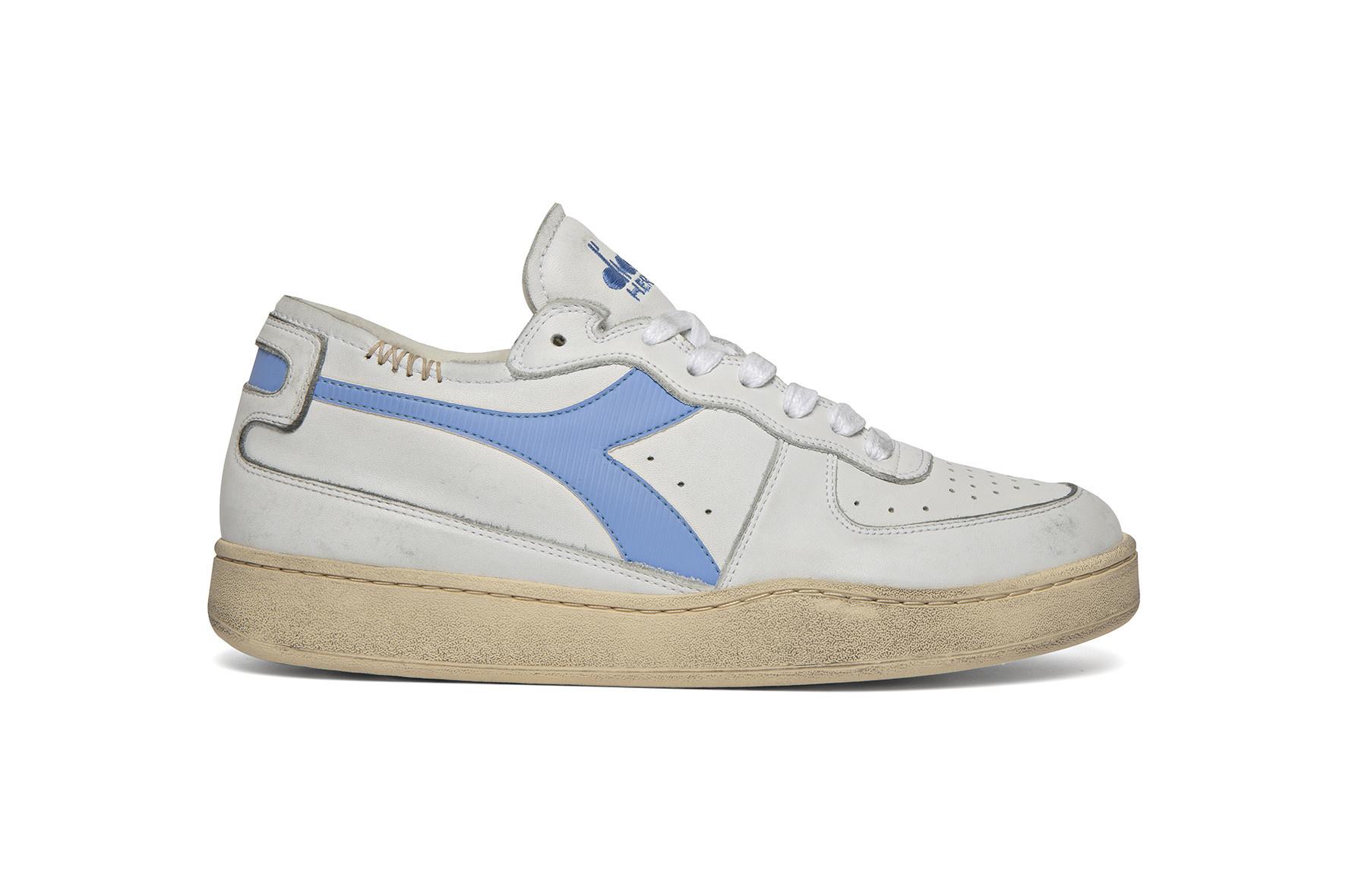 Sneaker basket row cut wit-blauw-1