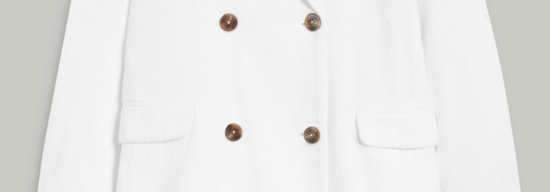 Coat cross white