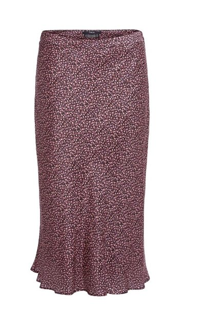 Skirt black roze