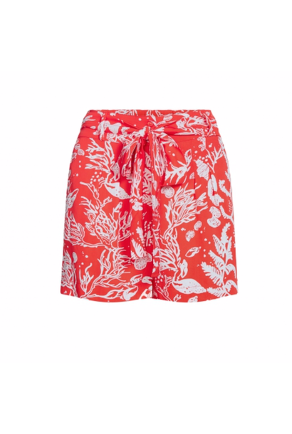 Susan short crazy coral/off-white