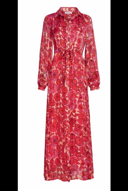 Frida long dress blossom pink/shelly flower