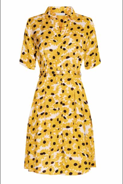 Mila dress offwhite/ sunny flower
