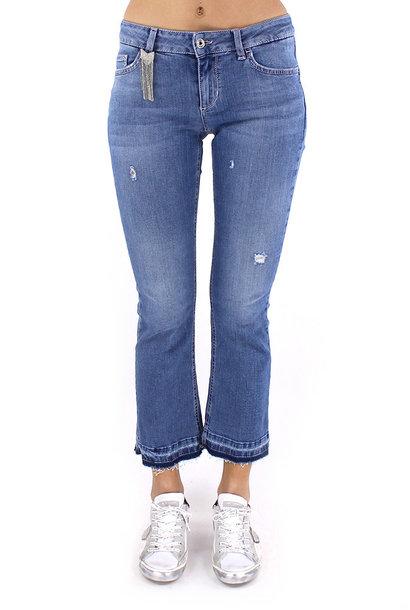 Bottom up fly jeans light